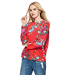 H! by Henry Holland - Red floral print top