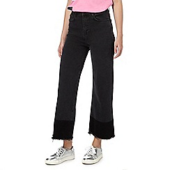 H! by Henry Holland - Black wide leg cropped jeans