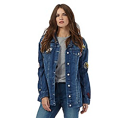 H! by Henry Holland - Blue badge applique denim jacket