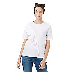 H! by Henry Holland - White asymmetric layered top