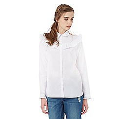 H! by Henry Holland - White ruffle detail shirt