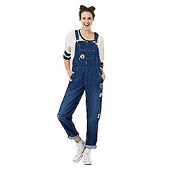 H! by Henry Holland - Mid blue badge applique dungarees