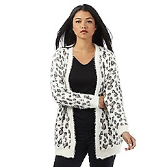 H! by Henry Holland - Ivory leopard print cardigan