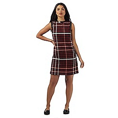 H! by Henry Holland - Red dogtooth shift dress with wool