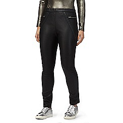 H! by Henry Holland - Black leather-look trousers