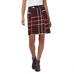H! by Henry Holland - Red check mini A-line skirt