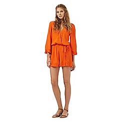 H! by Henry Holland - Orange crochet trim playsuit