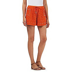 H! by Henry Holland - Orange embroidered shorts