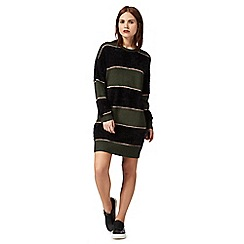 H! by Henry Holland - Dark green striped jumper dress