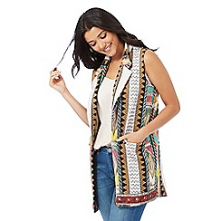H! by Henry Holland - Multi-coloured sleeveless embellished jacket