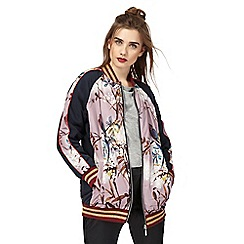 H! by Henry Holland - Navy oriental print bomber jacket
