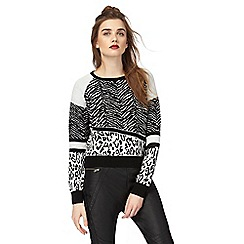 H! by Henry Holland - Black animal print jumper