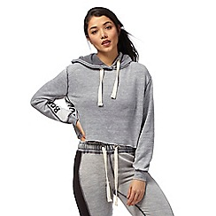 H! by Henry Holland - Grey cropped hoodie