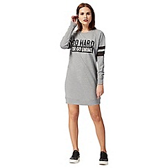 H! by Henry Holland - Grey 'Go home or go gnome' dress