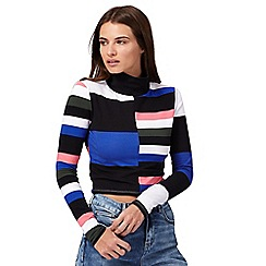 H! by Henry Holland - Blue colour block crop top