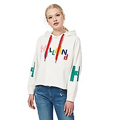 H! by Henry Holland - White logo print hoodie