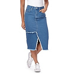 H! by Henry Holland - Blue denim midi skirt