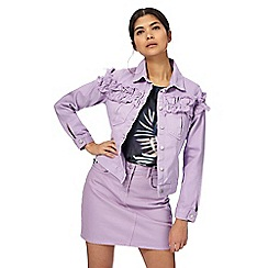 H! by Henry Holland - Lilac ruffle denim jacket