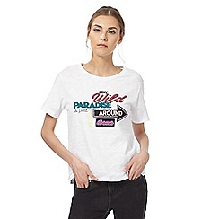 H! by Henry Holland - White paradise slogan t-shirt