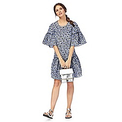 H! by Henry Holland - Navy gingham print dress