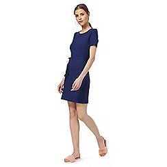 H! by Henry Holland - Blue short sleeved ribbed dress