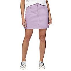 H! by Henry Holland - Lilac denim mini skirt