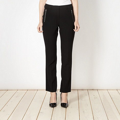 Principles by Ben de Lisi - Designer black slim PU pocket trousers
