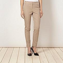 Principles Petite by Ben de Lisi - Petite designer natural slim leg trousers