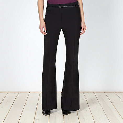 Principles by Ben de Lisi - Designer black bootleg belted suit trousers