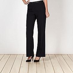 Principles Petite by Ben de Lisi - Petite navy bootleg suit trousers