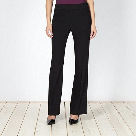 Principles by Ben de Lisi - Designer black zip detail bootleg suit trousers