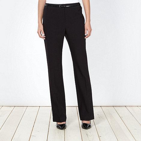 Principles by Ben de Lisi - Designer black straight leg suit trousers