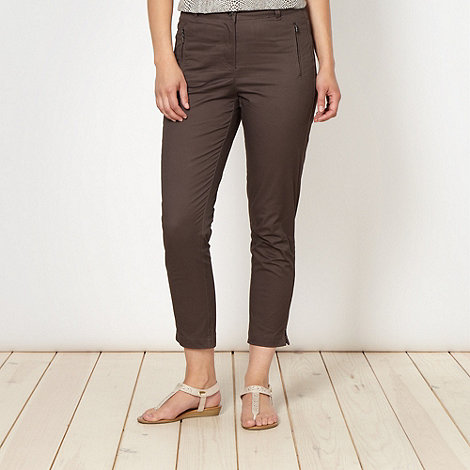 Principles by Ben de Lisi - Designer dark brown utility trousers