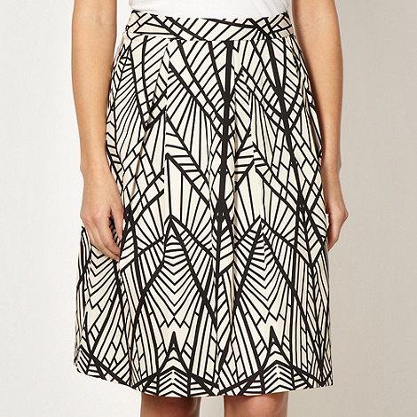 Principles by Ben de Lisi - Designer black leaf patterned skirt