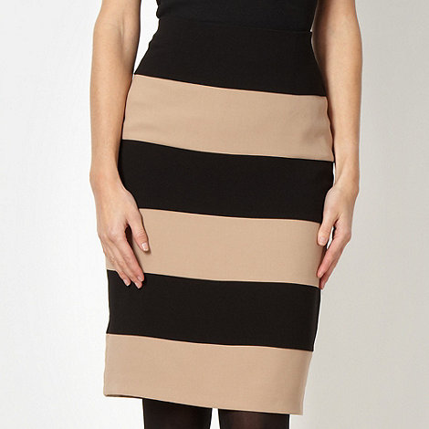 Principles by Ben de Lisi - Designer black colour block striped skirt