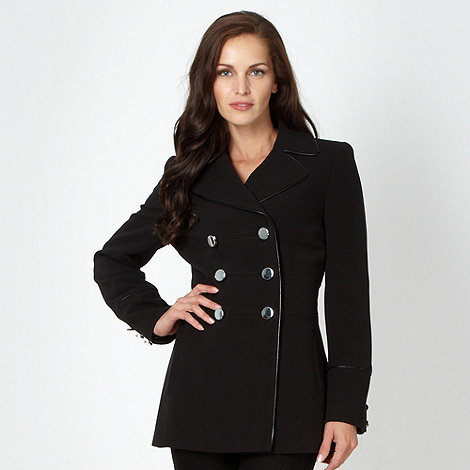 Principles by Ben de Lisi - Designer black PU trim jacket