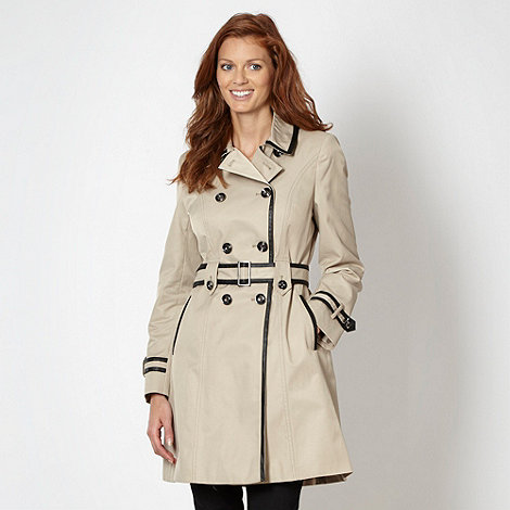 Principles by Ben de Lisi - Designer natural belted PU trim mac coat