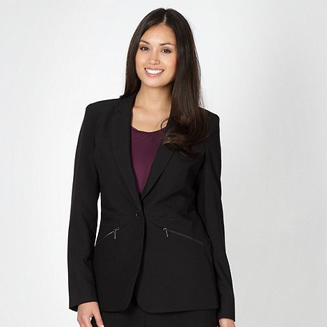 Principles by Ben de Lisi - Designer black zip detail suit jacket
