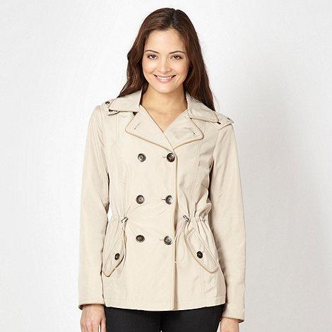 Principles by Ben de Lisi - Designer dark cream short trench coat