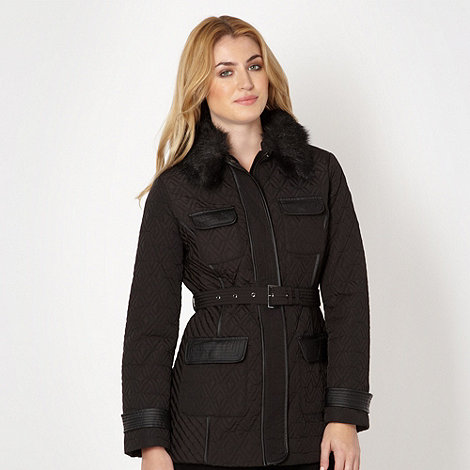 Principles by Ben de Lisi - Designer black quilted jacket