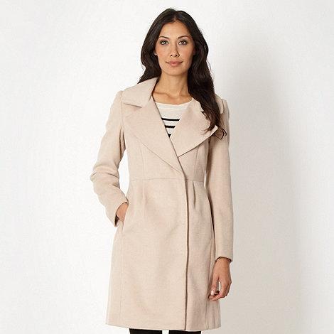 Principles by Ben de Lisi - Designer cream collar wrap coat