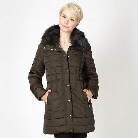 Principles by Ben de Lisi - Designer khaki padded parka jacket