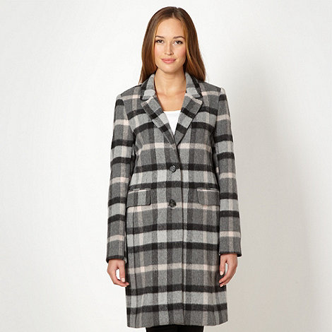 Principles by Ben de Lisi - Designer grey checked long coat