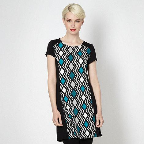 Principles by Ben de Lisi - Designer turquoise zig zag tunic top