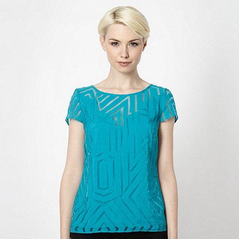 Principles by Ben de Lisi - Designer turquoise linear top