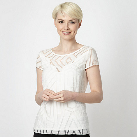 Principles by Ben de Lisi - Designer ivory linear top