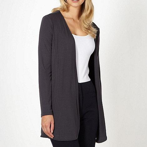 Principles by Ben de Lisi - Designer dark grey jersey cardigan