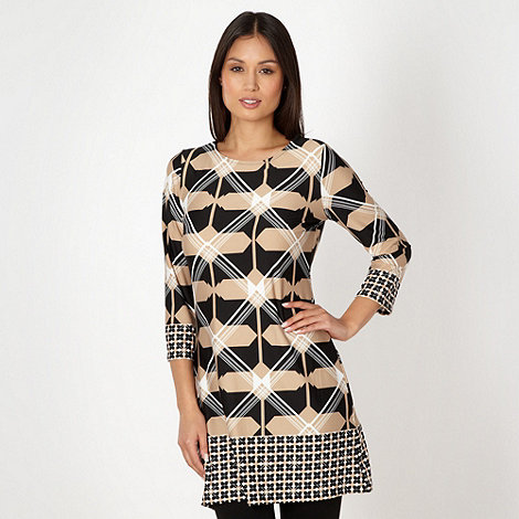 Principles by Ben de Lisi - Designer black diamond print tunic