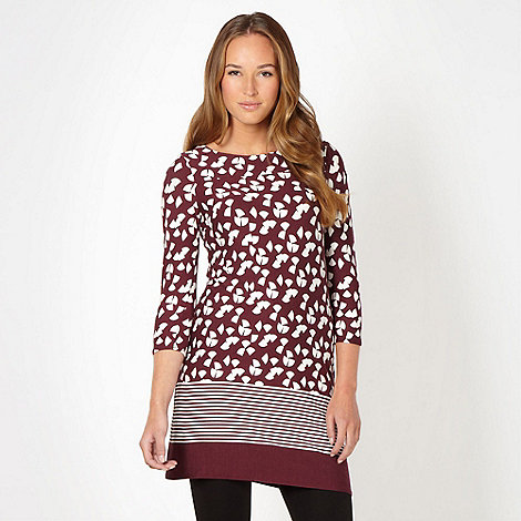 Principles by Ben de Lisi - Designer winter berry quarter circle jersey tunic