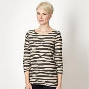 Designer natural striped top